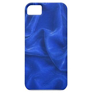 Cubierta azul del iphone cinco del terciopelo funda para iPhone SE/5/5s
