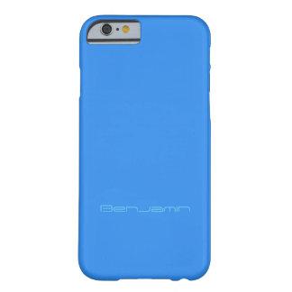 Cubierta azul del iPhone del estilo de Benjamin Funda Barely There iPhone 6