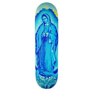 Cubierta azul del patín del Virgen María