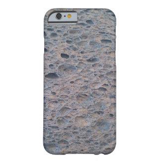 Cubierta azul del teléfono de la esponja funda para iPhone 6 barely there