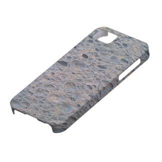 Cubierta azul del teléfono de la esponja iPhone 5 funda