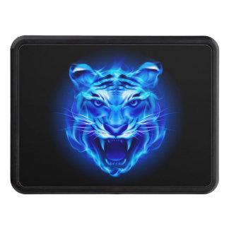 Cubierta azul del tirón de la cara del tigre del tapa de tráiler
