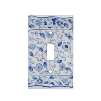 Cubierta azul y blanca de la placa del interruptor cubierta para interruptor