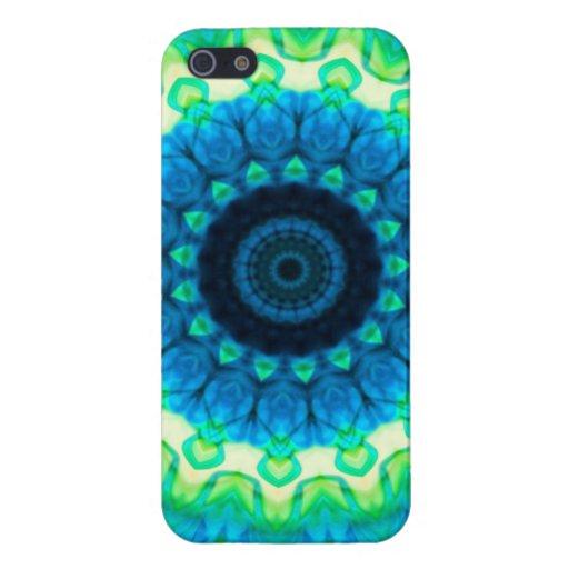 Cubierta azul y verde de IPhone del alcance de Tie iPhone 5 Coberturas