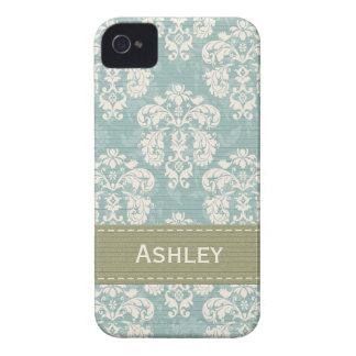 Cubierta azul y verde del caso 4s del iPhone 4 del iPhone 4 Case-Mate Protector