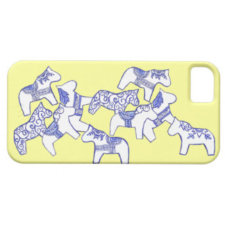 Cubierta blanca del caballo iphone5 de Dala apenas Funda Para iPhone SE/5/5s