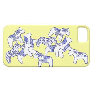 Cubierta blanca del caballo iphone5 de Dala apenas iPhone 5 Funda
