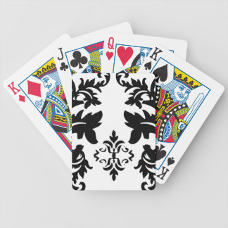Cubierta blanca del paquete de los naipes del negr baraja cartas de poker