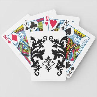Cubierta blanca del paquete de los naipes del negr baraja de cartas