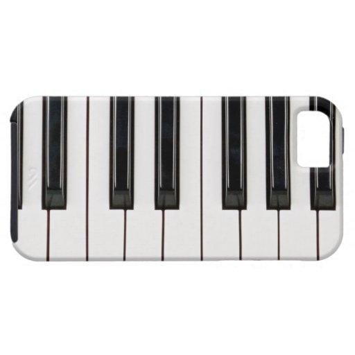 Cubierta blanco y negro de la caja del teclado de  iPhone 5 Case-Mate coberturas