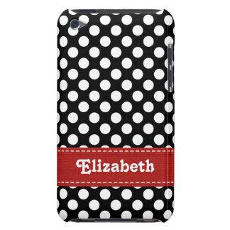Cubierta blanco y negro del caso del tacto 4g de i iPod Case-Mate fundas