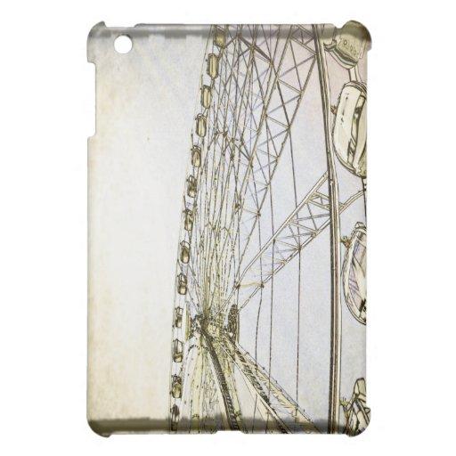 Cubierta blanco y negro del iPad de la noria
