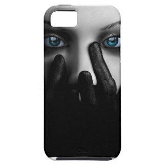 Cubierta blanco y negro del iPhone 5 de la señora iPhone 5 Fundas