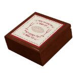 Cubierta bordada vintage del jalá caja de joyas