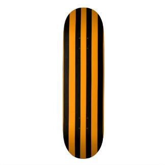 Cubierta brillante del naranja y del monopatín de patinetas personalizadas
