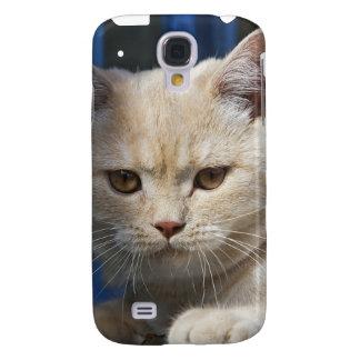 Cubierta británica del gato iPhone3G de Shorthair Funda Para Galaxy S4
