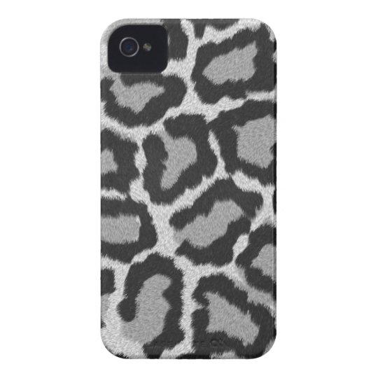 Cubierta/caja blancas del estampado de animales de carcasa para iPhone 4 de Case-Mate