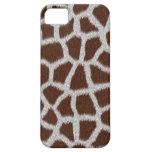 Cubierta/caja blancas del estampado de animales de iPhone 5 Case-Mate cárcasa
