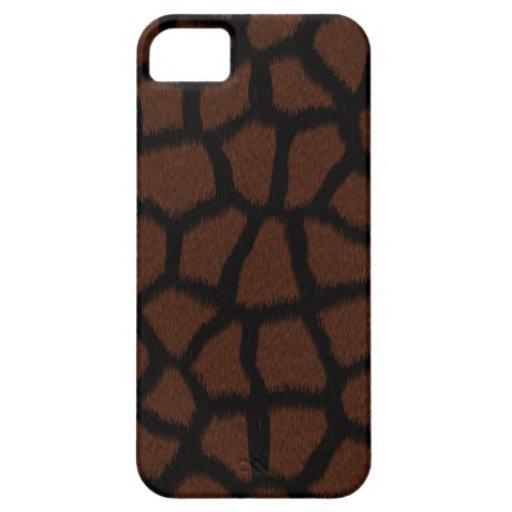 Cubierta/caja negras del estampado de animales de iPhone 5 carcasa