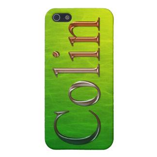 Cubierta calificada conocida del iPhone de COLIN iPhone 5 Funda