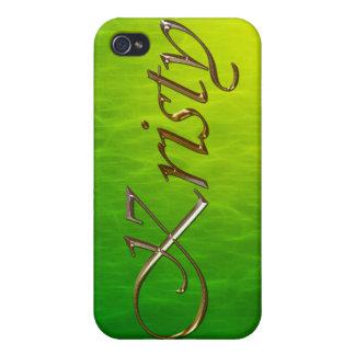 Cubierta calificada conocida del iPhone de KRISTY iPhone 4 Cárcasas