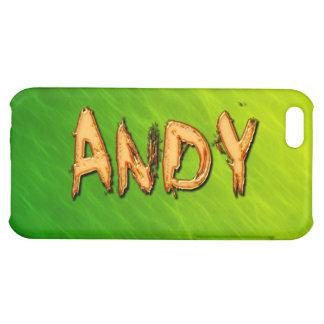 Cubierta calificada nombre del iPhone de ANDY