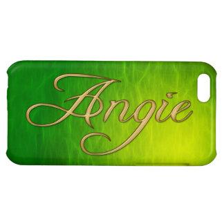 Cubierta calificada nombre del iPhone de ANGIE