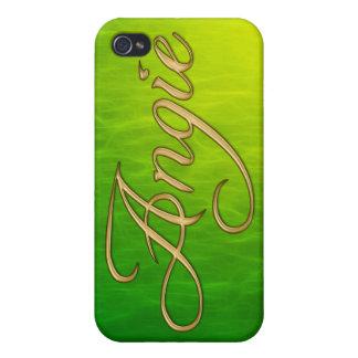 Cubierta calificada nombre del iPhone de ANGIE iPhone 4/4S Funda