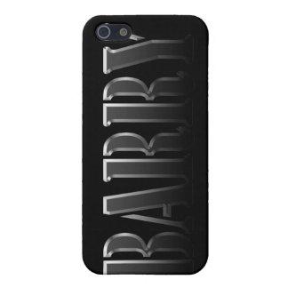Cubierta calificada nombre del iPhone de BARRY iPhone 5 Fundas