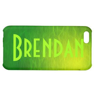 Cubierta calificada nombre del iPhone de BRENDAN