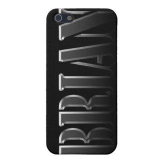 Cubierta calificada nombre del iPhone de BRIAN iPhone 5 Coberturas