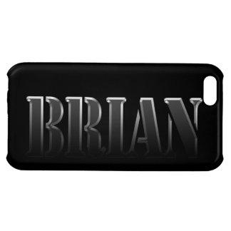 Cubierta calificada nombre del iPhone de BRIAN