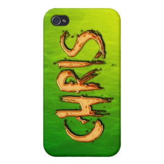 Cubierta calificada nombre del iPhone de CHRIS iPhone 4 Carcasas