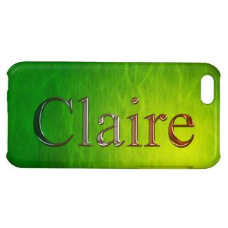 Cubierta calificada nombre del iPhone de CLAIRE