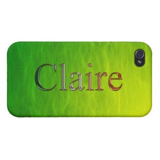 Cubierta calificada nombre del iPhone de CLAIRE iPhone 4/4S Carcasas