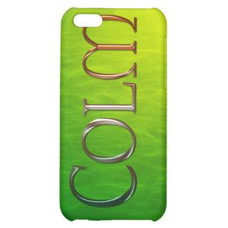 Cubierta calificada nombre del iPhone de COLM
