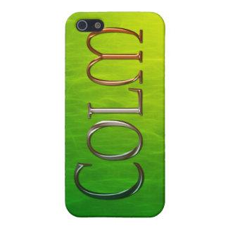 Cubierta calificada nombre del iPhone de COLM iPhone 5 Protector