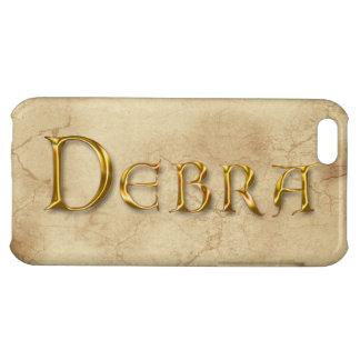 Cubierta calificada nombre del iPhone de DEBRA
