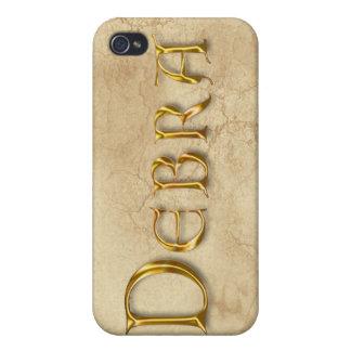 Cubierta calificada nombre del iPhone de DEBRA iPhone 4 Carcasas