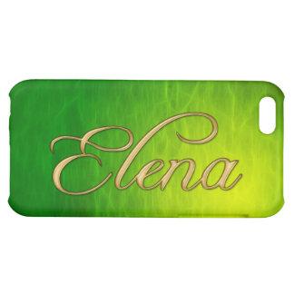 Cubierta calificada nombre del iPhone de ELENA
