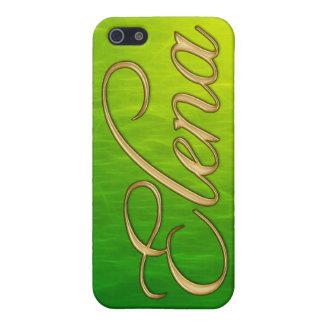 Cubierta calificada nombre del iPhone de ELENA iPhone 5 Cárcasa