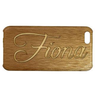 Cubierta calificada nombre del iPhone de FIONA