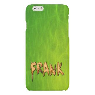 Cubierta calificada nombre del iPhone de FRANK