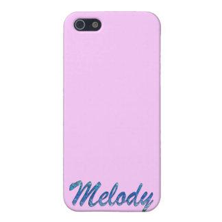 Cubierta calificada nombre del iPhone de la melodí iPhone 5 Fundas