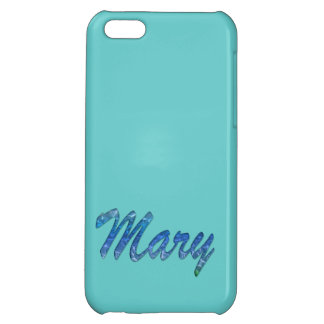 Cubierta calificada nombre del iPhone de Maria