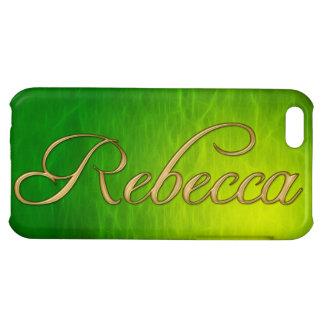 Cubierta calificada nombre del iPhone de REBECCA
