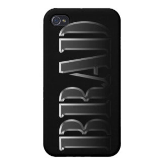 Cubierta calificada nombre del iPhone del CLAVITO iPhone 4 Cárcasa