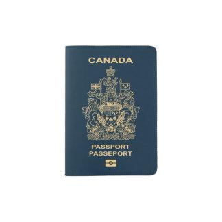 Cubierta canadiense del pasaporte porta pasaporte