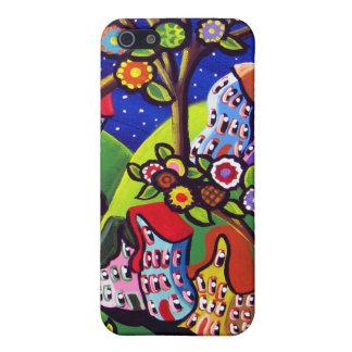 Cubierta caprichosa del iPhone de los flores de lo iPhone 5 Cárcasa