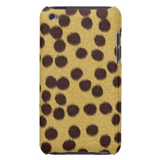 Cubierta/caso del estampado de animales del guepar iPod touch protectores